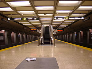 Downtown Berkeley station - Dpwntown Berkeley station platform in 2008