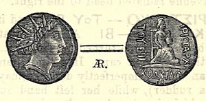Aristarchus of Colchis - Image: Drachm of Aristarchos, dynast of Colchis. Reproduced in The Numismatic Chronicle (1877)