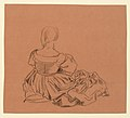 Drawing, Study of a seated woman in costume, ca. 1890 (CH 18404427).jpg