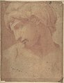 Drawing of the Head of Michelangelo's Dawn (from the Tomb of Lorenzo de' Medici, Church of San Lorenzo, Florence). MET DP810675.jpg
