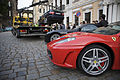 Dresden - Ferrari in front of a car removal - 2320.jpg