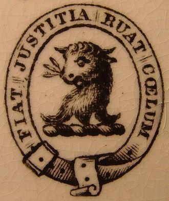 Joseph Drew -  Drew family crest with motto Fiat justitia ruat cœlum