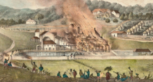 Duperly (1833) Destruction of the Roehampton Estate January 1832.png