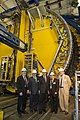 During his tour of the laboratory, Deputy Secretary Poneman (center) visited the 45-foot-high Collider Detector at Fermilab (CDF). (4948619836).jpg