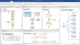 Enterprise Architect (software) visual modeling and design tool based on the OMG UML