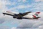 EGLL - Airbus A380 - British Airways - G-XLEC (43879598342).jpg