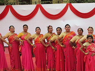 East Indians - East Indian women in traditional dress