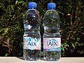 Eau minérale naturelle d'Aix-les-Bains (bouteilles).JPG