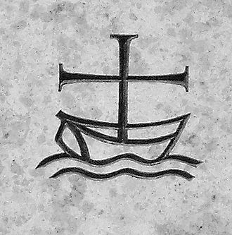 Ecumenism - A common symbol of ecumenism symbolises the Christian Church as a cross depicted as the mast on a boat at sea.