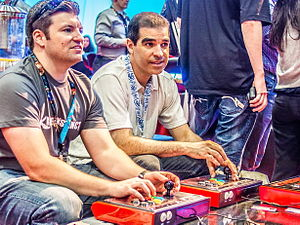 Ed Boon - Ed Boon (right) at E3 2013