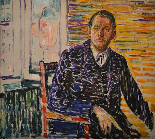 Edvard Munch, Selvportrett fra klinikken