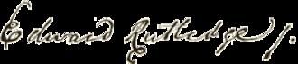 Edward Rutledge - Image: Edward Rutledge signature