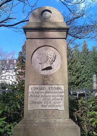 Edvard Storm - Edward Storm's tombstone at Assistens Cemetery in Copenhagen