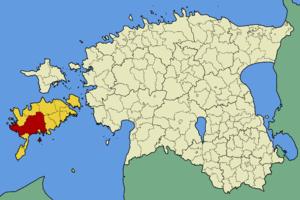 Lääne-Saare Parish - Image: Eesti laane saare vald