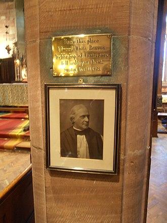 Edward White Benson - Memorial to Benson in Hawarden Church