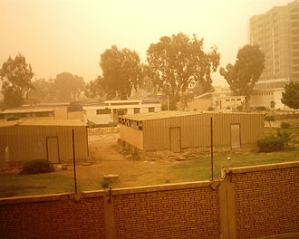 Crucifixion darkness - Khamsin dust storm in Egypt in 2007