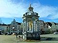 Einsiedeln. Brunnen Maria am Klosterplatz..JPG