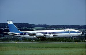 El Al Flight 426 hijacking - El Al 707 on the runway