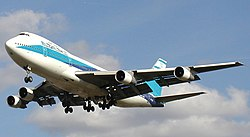 El Al B747-258B (4X-AXH) landing at London Heathrow Airport.jpg