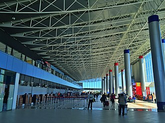 El Alto International Airport - The new terminal is used for both domestic and international flights.