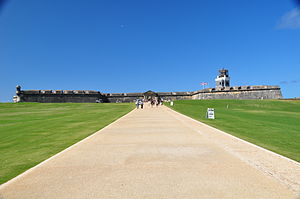 Castillo San Felipe del Morro - View of El Morro's entrance