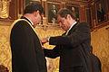 El presidente Correa condecora al Embajador de Bolivia (6887975983).jpg