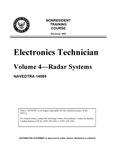Electronics Technician - Volume 4 - Radar Systems - NAVEDTRA 14089.pdf