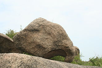 Viratnagar - The natural rock formation resembling an elephant head