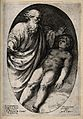 Elijah prays for life to be restored to the widow's son. Lin Wellcome V0034320.jpg