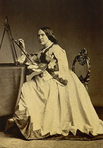 Elisabeth Jerichau-Baumann - A photograph of Jerichau-Baumann taken by Rudolph Striegler.