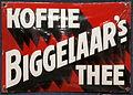 Enamel advertising sign, Biggelaar's Koffie Thee.JPG