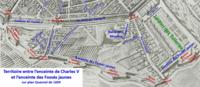 Enceintes de Charles V et des Fossés jaunes en 1609 (plan Quesnel).png