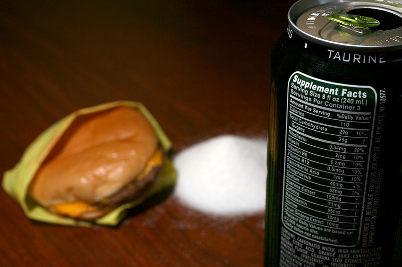 File:Energy drink and fast food cheeseburger calorie comparison.jpg