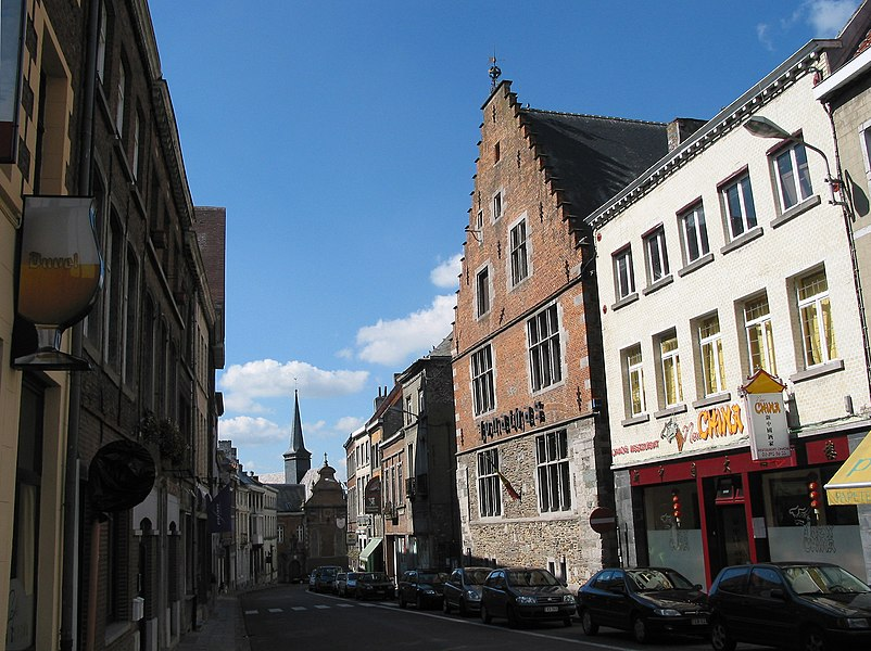 Enghien (Belgium), rue Montgomery -the Jonathas house (Tapestry museum).