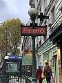 Entrée Station Métro Pyrénées Paris 2.jpg