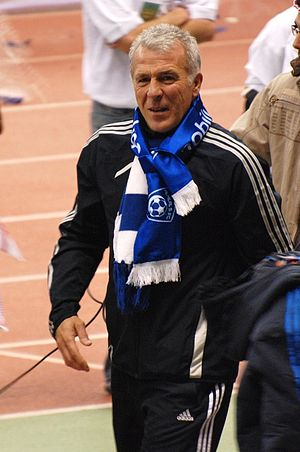 Eric Gerets - Eric Gerets after the celebration of Al Hilal in the 2009–10 Saudi Pro League