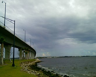 Sewall's Point, Florida - The new Ernest Lyons Bridge, which carries State Road A1A from Hutchinson Island to Sewall's Point