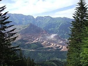 The Erzberg seen from the Pfaffenstein