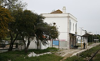 Mexilhoeira Grande - The railway station of Mexilhoeira Grande, used as part of the Algarve Line, until it was converted