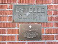 Estelle Court Apartments, NRHP plaque, Portland, OR.JPG