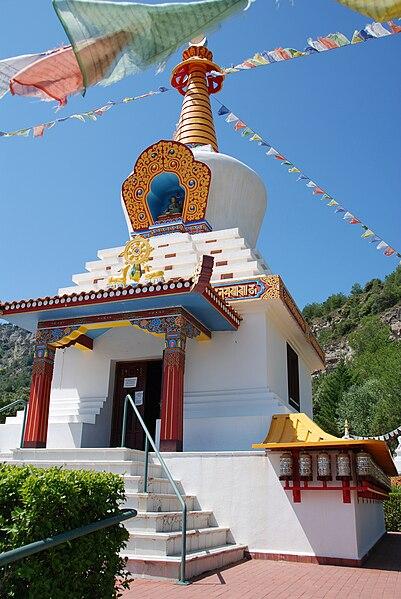 Estupa del Centro Budista en Aragón