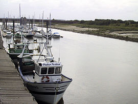 Moorings at the mouth of the Canche River in Étaples