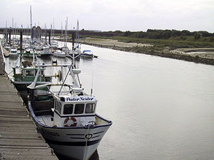 Étaples - Moorings at the mouth of the Canche River in Étaples