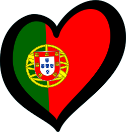 English: Flag of Portugal in the Eurovision he...