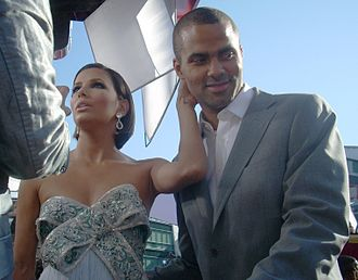 Tony Parker - Parker with Eva Longoria at the 2008 Emmy Awards