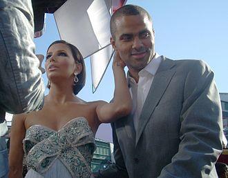 Tony Parker - Parker with Eva Longoria at the 2008 Emmy Awards