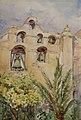 Eva Scott Fényes - The Belfry and Bells of Mission San Gabriel Arcangel, 1902.jpg
