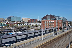 Everett Station and Everett skyline, April 2020.jpg