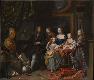 Everhard Jabach - Jabach and his family, c. 1660, by Charles LeBrun
