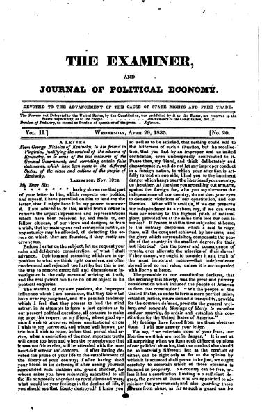 File:Examiner, Journal of Political Economy, v2n20.djvu